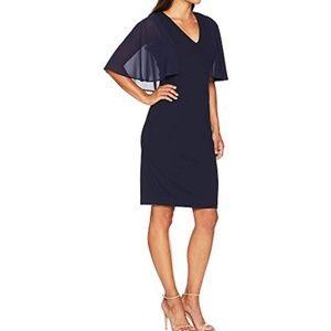 Bodycon Dress with Souffle Chiffon Sleeves